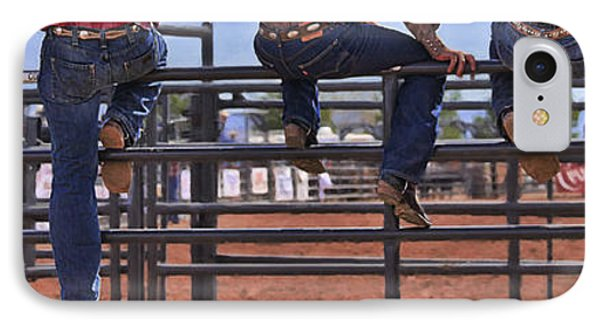 Rodeo Fence Sitters IPhone Case by Priscilla Burgers