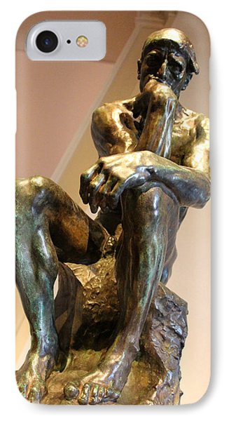 Rodin's The Thinker -- Le Penseur IPhone Case by Cora Wandel