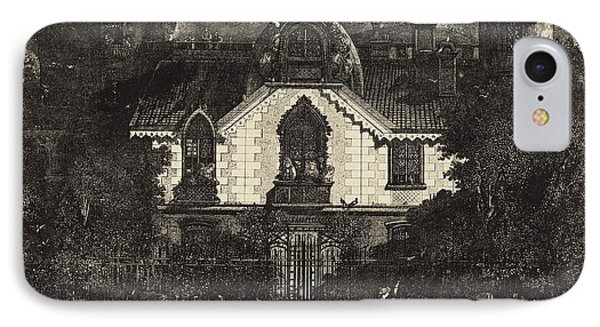 Rodolphe Bresdin French, 1822 - 1885, The Haunted House IPhone Case