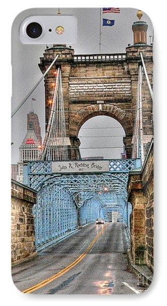 Roebling Bridge IPhone Case by David Bearden