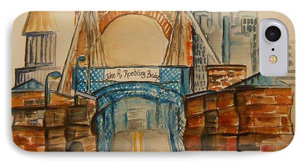 Roebling Bridge IPhone Case by Elaine Duras