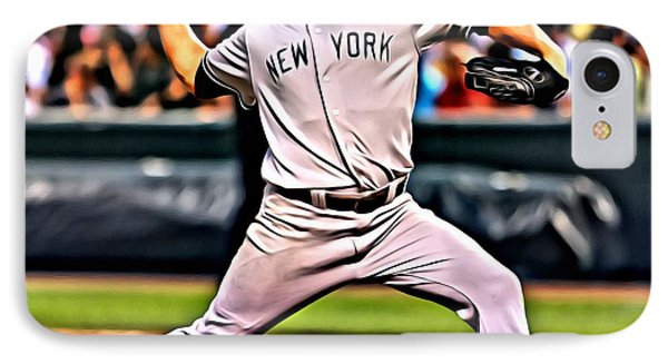 Roger Clemens Painting IPhone Case by Florian Rodarte
