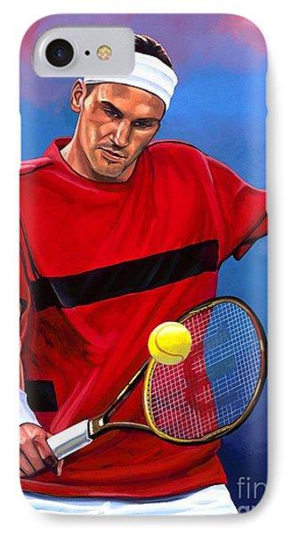 Roger Federer The Swiss Maestro IPhone Case by Paul Meijering