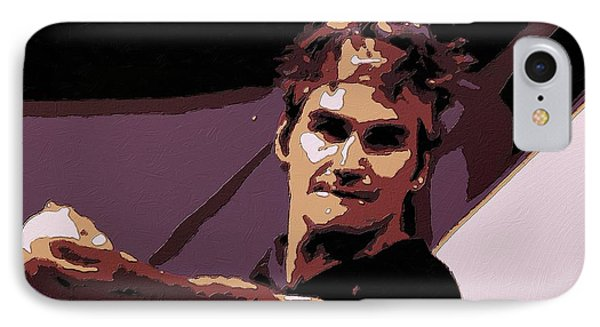 Roger Federer Poster Art IPhone Case by Florian Rodarte