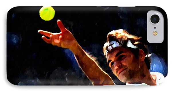 Roger Federer Tennis 1 IPhone Case by Lanjee Chee