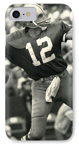 Roger Staubach Vintage Nfl Poster IPhone Case by Gianfranco Weiss
