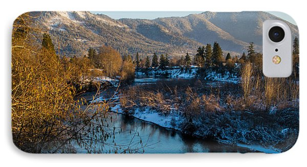 Rogue River Winter IPhone Case by Mick Anderson