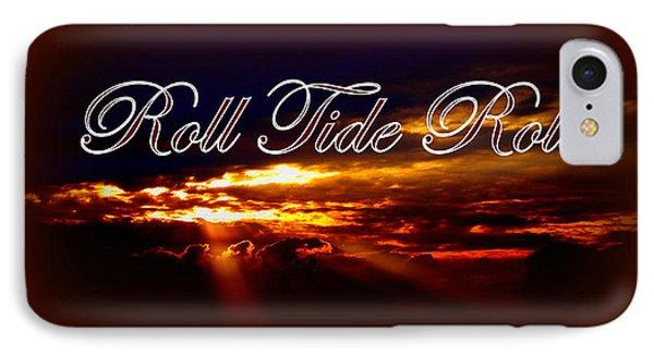 Roll Tide Roll W Red Border - Alabama Phone Case by Travis Truelove