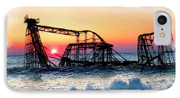 Roller Coaster After Sandy IPhone Case by Tony Rubino
