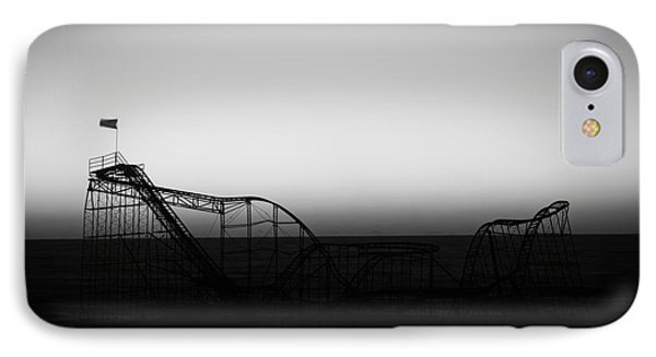 Roller Coaster Silhouette Black And White Phone Case by Michael Ver Sprill
