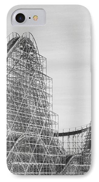 Roller Coaster Wildwood IPhone Case by Eric  Schiabor