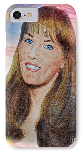 Roller Derby Star Lovely Barbara Baker IPhone Case by Jim Fitzpatrick