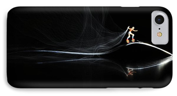 Roller Skating On A Fork With Smoke Torch Phone Case by Paul Ge