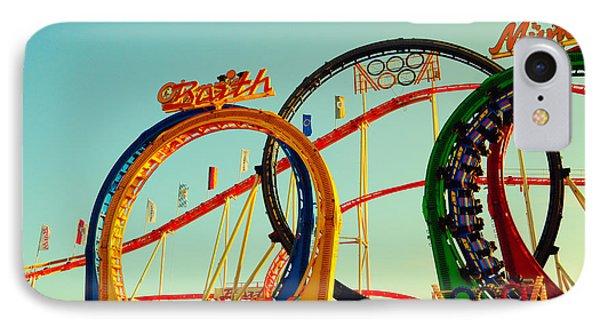 Rollercoaster At The Octoberfest In Munich IPhone Case