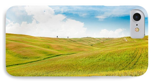 Rolling Hills In Tuscany IPhone Case by JR Photography