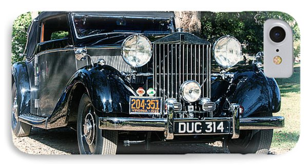 IPhone Case featuring the photograph Rolling In Style 36 Rolls Royce by Alan Raasch