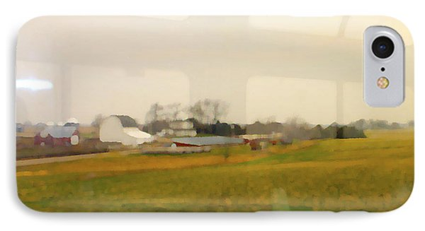 IPhone Case featuring the photograph Rolling Past Farmland by Barbara Giordano