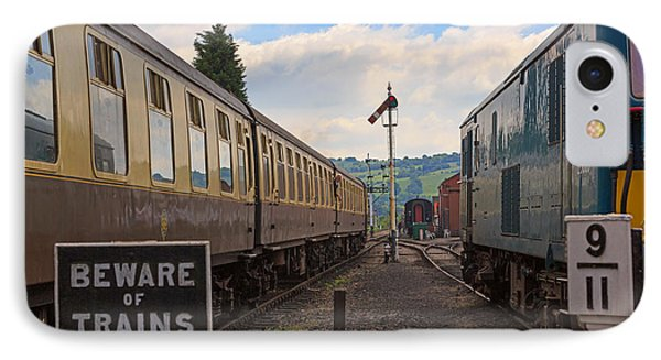 Rolling Stock Of The Gloucestershire Warwickshire Railway IPhone Case by Louise Heusinkveld