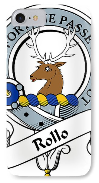 Rollo Clan Badge IPhone Case by Heraldry