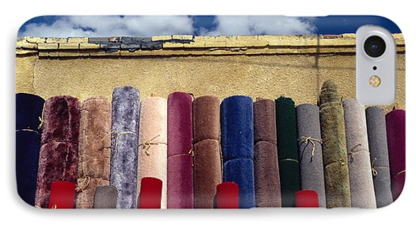 Rolls Of Colorful Carpets IPhone Case