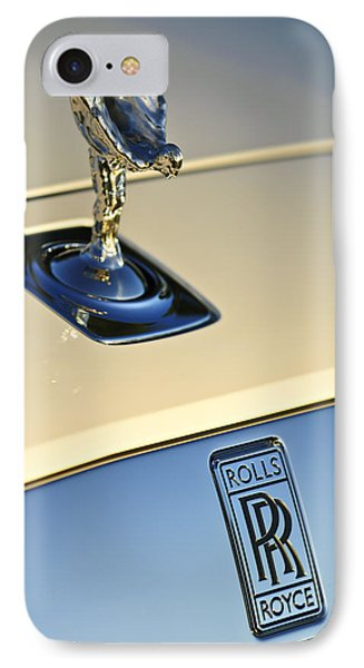 Rolls-royce Hood Ornament 3 IPhone Case by Jill Reger