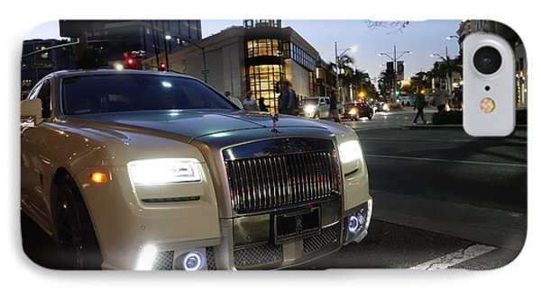 Rolls Royce Parked At The Bottom Of Rodeo Drive IPhone Case