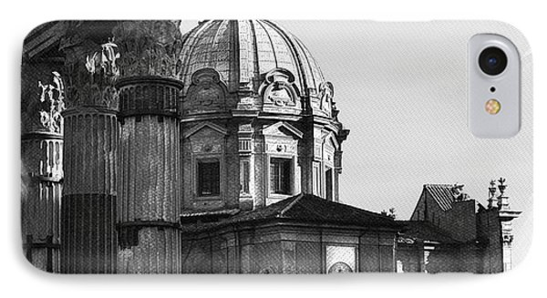 Roma Black And White Phone Case by Stefano Senise