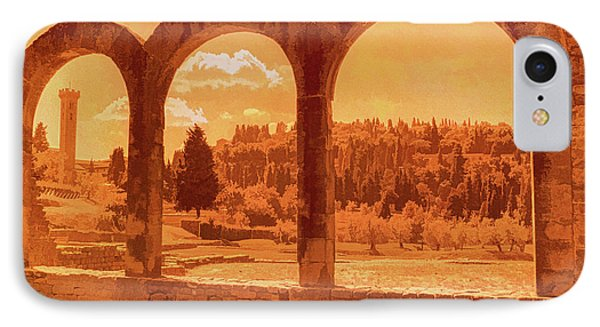 Roman Arches At Fiesole IPhone Case by Nigel Fletcher-Jones