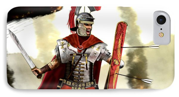 Roman Centurion IPhone Case by John Wills