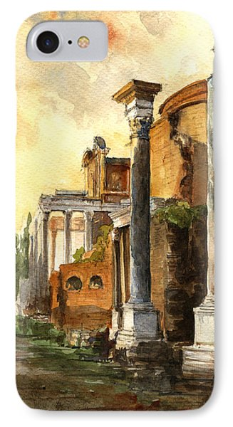 Roman Forum IPhone Case by Juan  Bosco