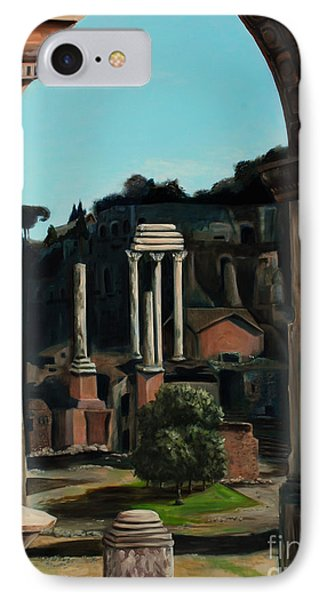 IPhone Case featuring the painting Roman Forum by Nancy Bradley