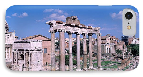 Roman Forum, Rome, Italy IPhone Case by Panoramic Images
