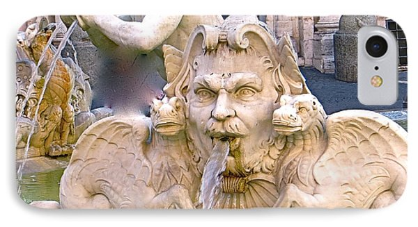 Roman Fountain IPhone Case by Rita Mueller