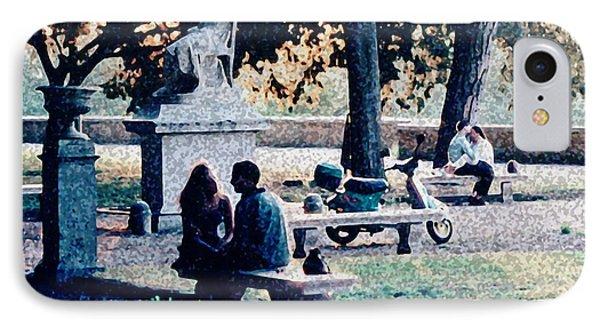 Roman Romance Tivoli Gardens IPhone Case by Tom Wurl