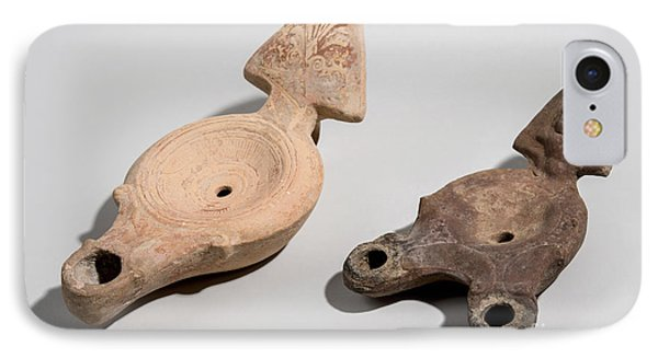 Roman Terracotta Oil Lamps Phone Case by Ilan Amihai