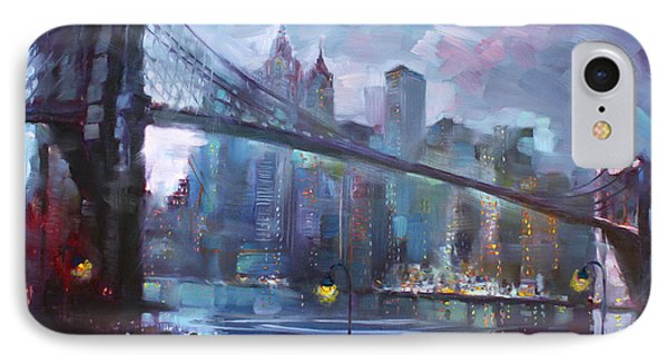 Romance By East River II IPhone 7 Case by Ylli Haruni
