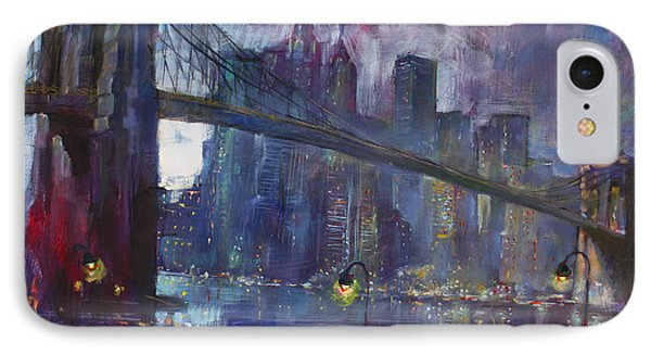 Romance By East River Nyc Phone Case by Ylli Haruni