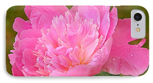 Pink Peony IPhone Case by Eunice Miller