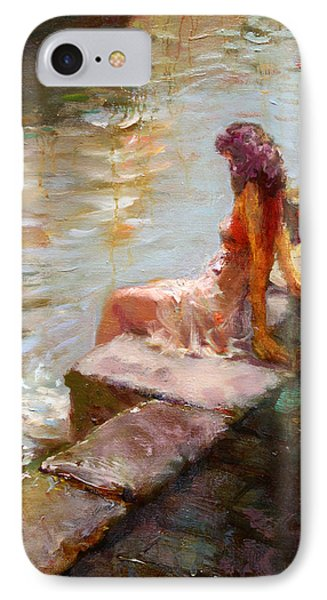 Romance In Venice Viola IPhone Case by Ylli Haruni