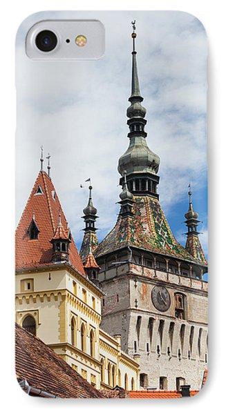 Romania, Transylvania, Sighisoara IPhone Case by Walter Bibikow