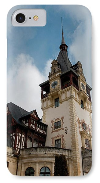 Romania Transylvania Sinaia Peles Castle IPhone Case by Inger Hogstrom