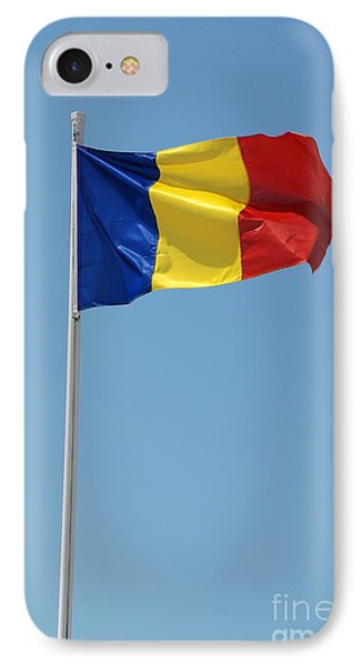 Romanian National Flag IPhone Case by David Fowler