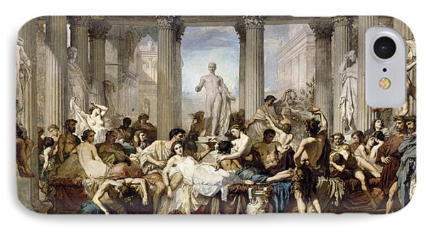 Romans During The Decadence IPhone Case by Thomas Couture