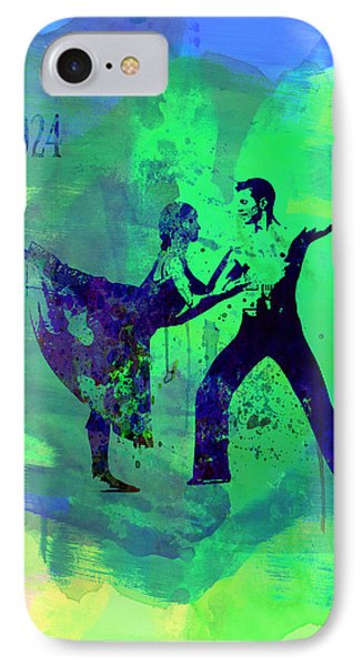 Romantic Ballet Watercolor 1 IPhone Case by Naxart Studio