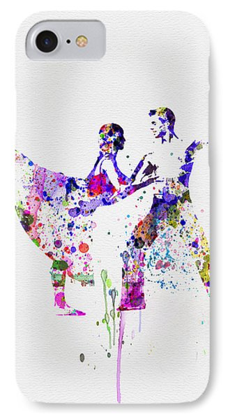 Romantic Ballet Watercolor 2 IPhone Case by Naxart Studio