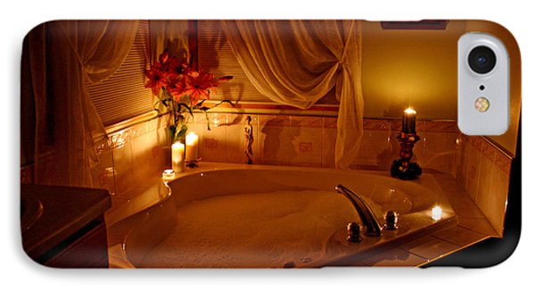 Romantic Bubble Bath Phone Case by Kay Novy