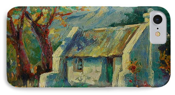IPhone Case featuring the painting Romantic Cape Cottage by Thomas Bertram POOLE