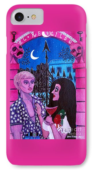 IPhone Case featuring the painting Romantic Couple by Don Pedro De Gracia