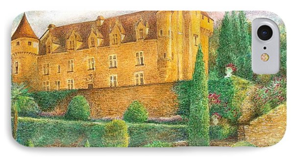 Romantic French Chateau IPhone Case by Judith Cheng