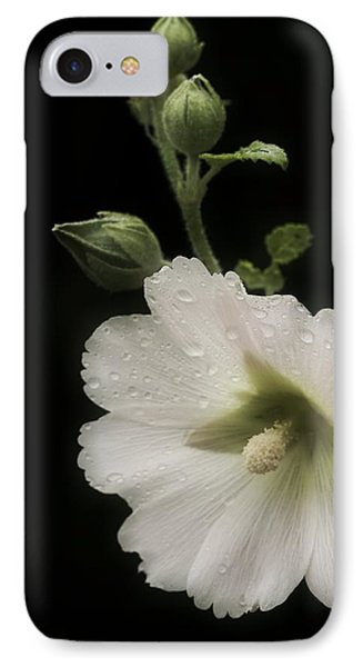 Romantic Hollyhock IPhone Case by Richard Cummings